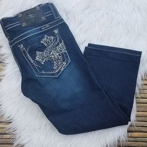 Miss me embellished cuffed jeans 26